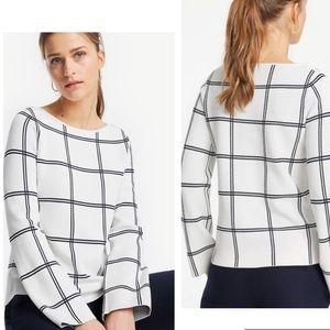 Ann Taylor Synthetic Windowpane Sweater